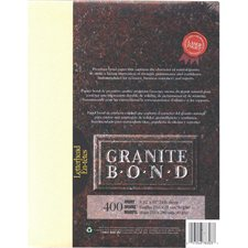 Papier Granite Bond Paquet de 400 ivoire