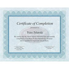 Certificats St.James™ Paquet de 100 bleu