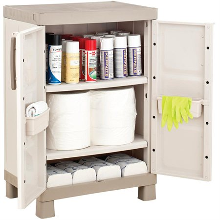 Armoire pour produits d'entretien et de nettoyage 2 tablettes