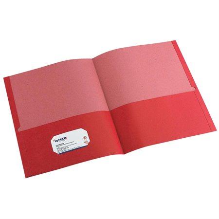 Couverture de présentation recyclée 100 % Earthwise™ Boîte de 25 rouge