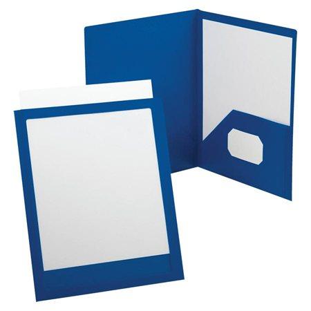 Couverture de présentation à double pochette Viewfolio bleu