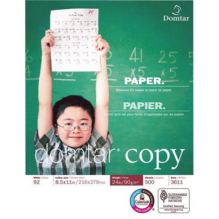 Papier DomtarCopy® 24 lb lettre