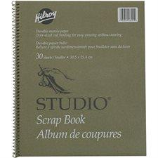 """Album de coupures Studio® 12 x 10"""", 30 feuilles."""