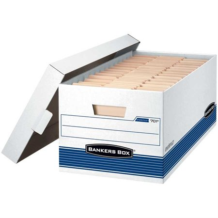 """Boîte d'entreposage Stor / File™ Lettre. 12 x 24 x 10""""H. Empilable jusqu'à 650 lb."""