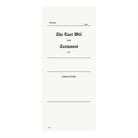 Enveloppe pour copie de testament pour testament