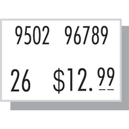 Étiquettes pour pistolet à étiqueter 210 Permanent blanc
