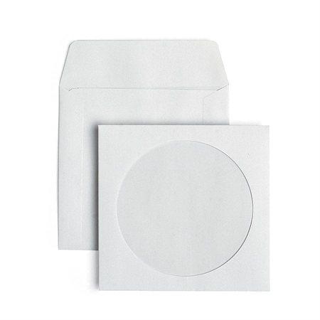 Enveloppes à fenêtre pour CD pqt 25