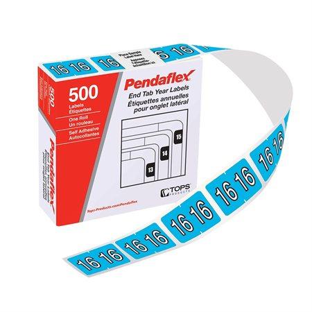 Étiquettes de classement annuel pour onglet latéral