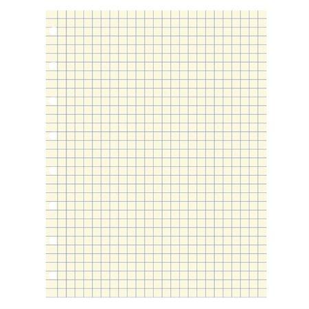 Recharge Filofax® Format bureau, 9-1 / 4 x 7-1 / 4. Pqt de 32. quadrillée