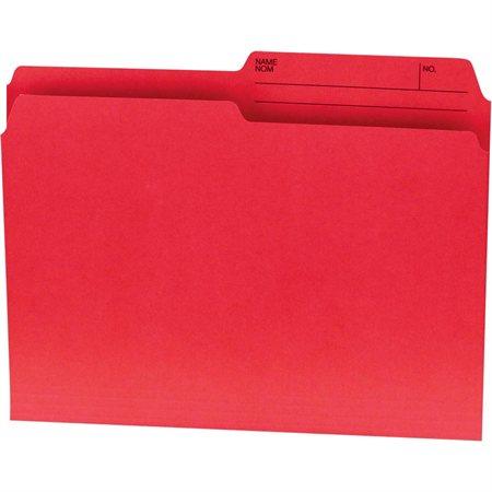 Chemises couleurs réversibles Offix® Format lettre rouge