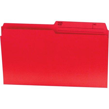 Chemises couleurs réversibles Offix® Format légal rouge