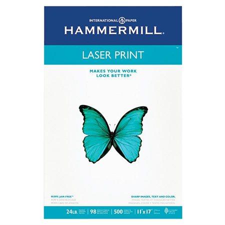 Papier Laser Print 24 lb. Paquet de 500. tabloïd