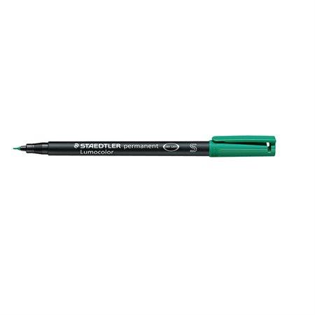 Marqueur permanent Lumocolor® Super fine. 0.4 mm vert