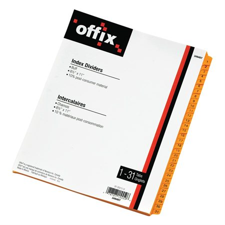Intercalaires chamois Offix® 1-31