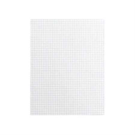 Bloc de papier blanc Offix® Quadrillé, 4 car. / po.