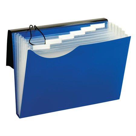 Classeur expansible en poly bleu