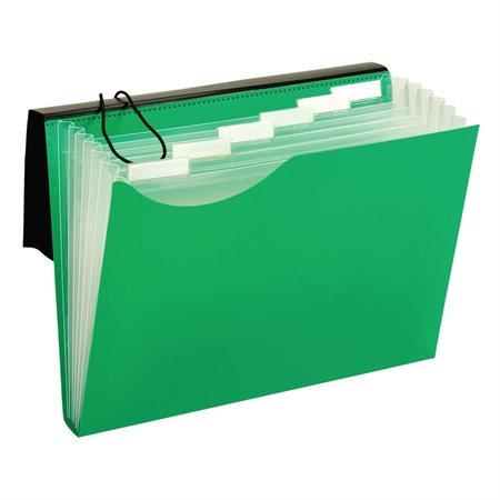 Classeur expansible en poly vert