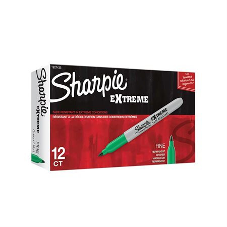 Marqueur permanent Extreme Boîte de 12 vert