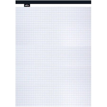 Bloc de papier Offix® Lettre (8-1 / 2 x 11-3 / 4 po) quadrillé, blanc