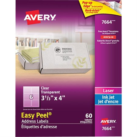 Easy Peel® Clear Mailing Labels