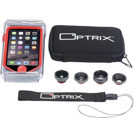 Trousse boîtier Pro avec lentilles de caméra pour iPhone 5 / 5s
