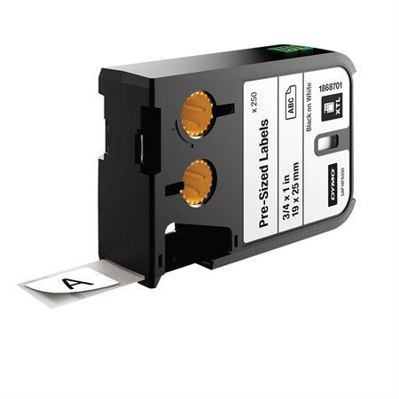 """Étiquettes pour étiqueteuses XTL™. 250 étiquettes pré-découpées 3 / 4 x 1"""" (19 x 25 mm)"""