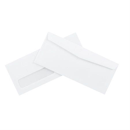 "Enveloppe blanche standard Avec fenêtre #10, 4-1 / 8 x 9-1 / 2"" (bte 500)"