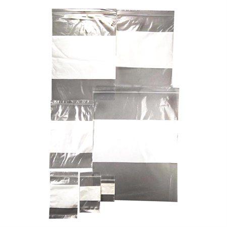 """Sac à glissière à pression avec bande blanche inscriptible #2 12 x 15"""""""
