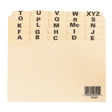 A-Z Card Guides