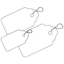 """White Identification Tags with Strings 1 29/32 x 1 1/4"""""""