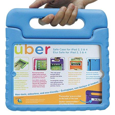 Étui Uber Safe iPad 2-3-4 bleu