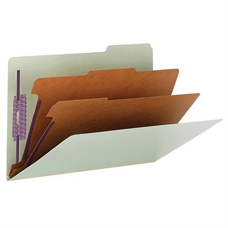 Chemise de classement en carton pressé 2 diviseurs format légal