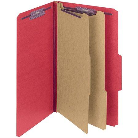 Chemise de classement couleur en carton pressé rouge