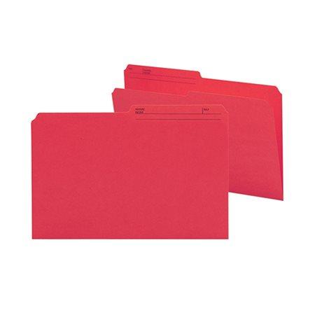 Chemises à dossier réversibles de couleur Format légal rouge