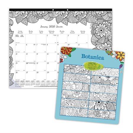Calendrier sous-main mensuel DoodlePlan™ (2020)