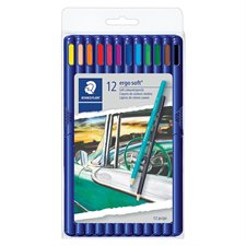 Crayons de couleur triangulaires en bois ergo soft® 157