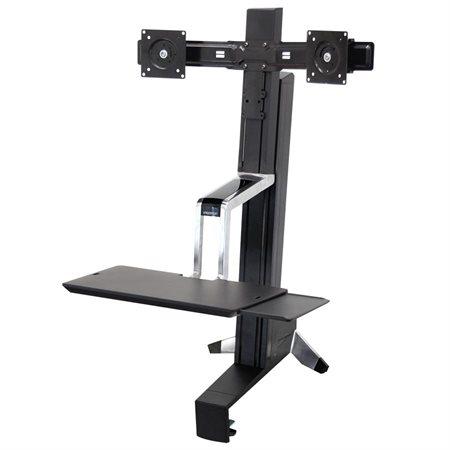 Station de travail assis / debout bi-écrans WorkFit-S