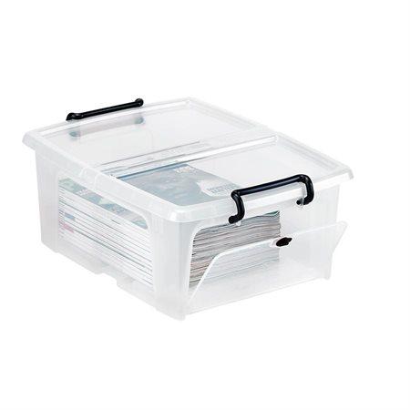 """Boîte de rangement Strata 20 litres – Ouverture latérale- 18 x 14 x 7-1 / 4""""H"""