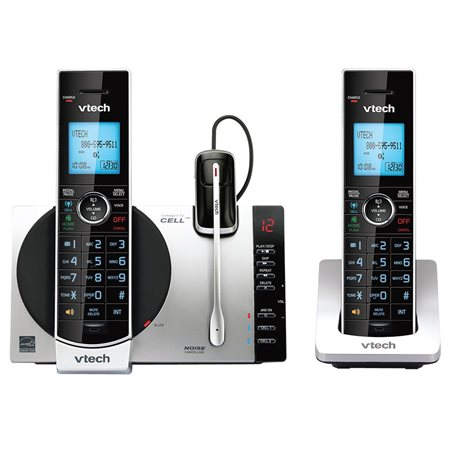DS6771-3 Connect to Cell™ 2-Handset Cordless Phone with Head