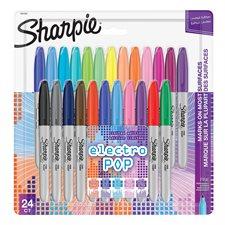 Marqueur fin Paquet de 24 couleurs électro pop