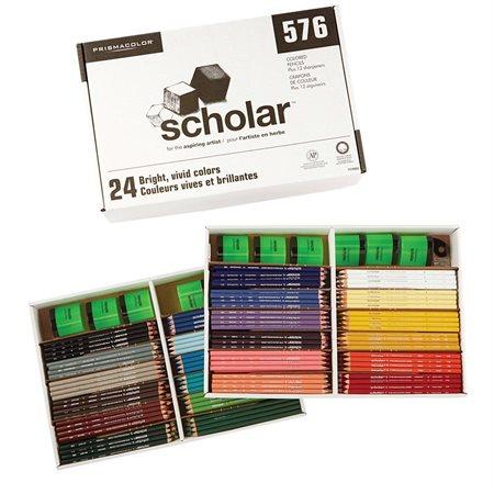 Crayons à colorier en bois Scholar