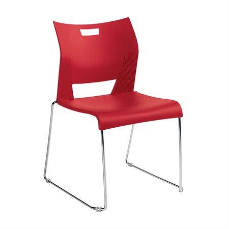 Chaise empilable sans accoudoirs Duet™ rouge