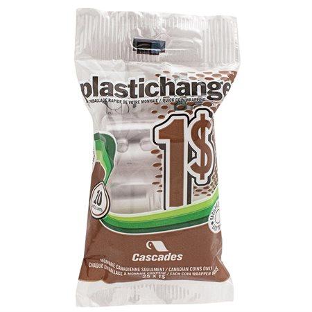 Rouleau pour monnaie Plastichange Paquet de 10 1 $
