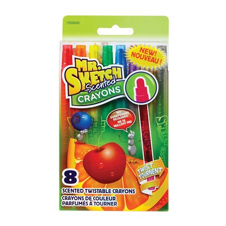 Crayons de couleur parfumés à tourner Mr. Sketch Scented™ pqt 8