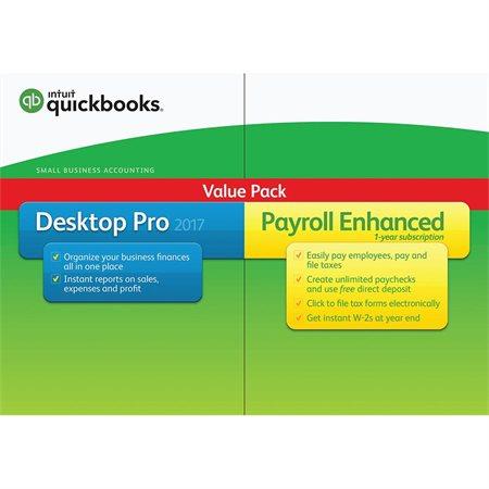 Logiciel de comptabilité QuickBooks 2018 Pro Plus avec gestion de la paie