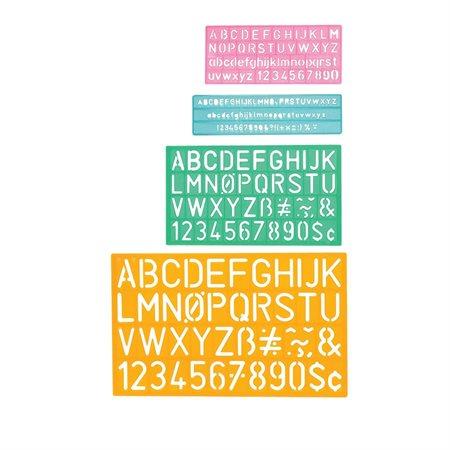 Trace-lettre en plastique C-THRU