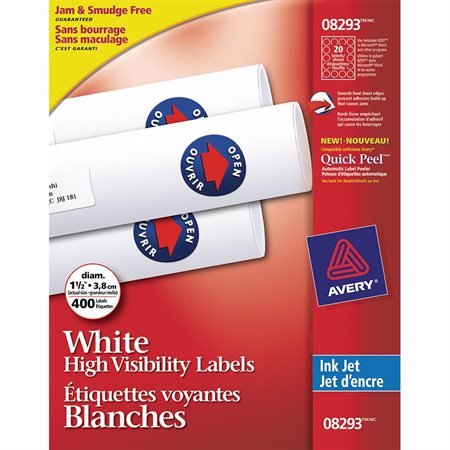 White High Visibility Labels