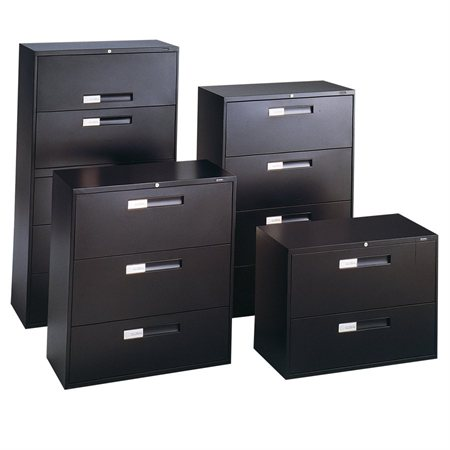 Fileworks® 9300 Lateral Filing Cabinets 3 drawers black