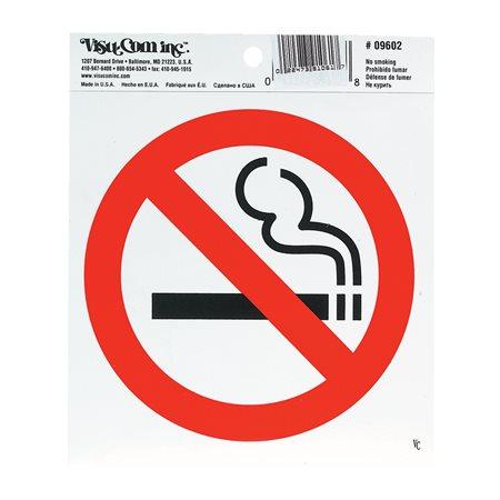 Enseigne Défense de fumer