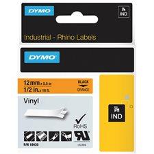 "Rhino Industrial Printing Tape Cassette Vinyl 1/2"" (orange)"